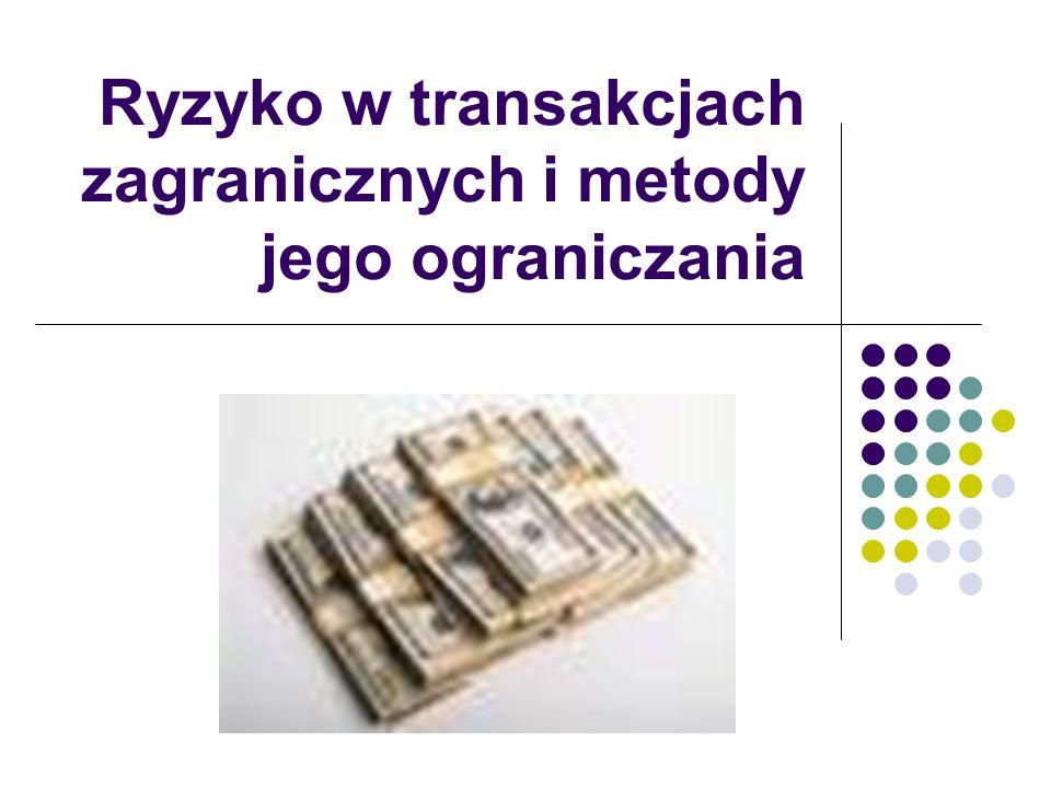 Ryzyko w transakcjach zagranicznych i metody jego ograniczania