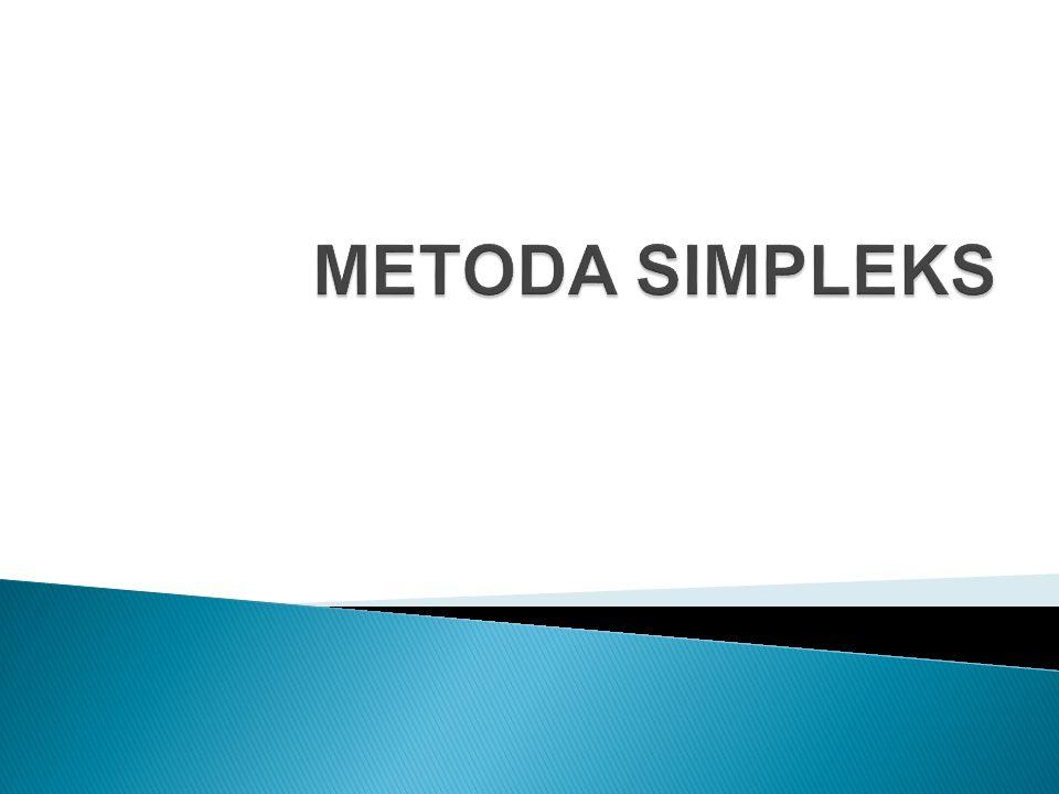 METODA SIMPLEKS