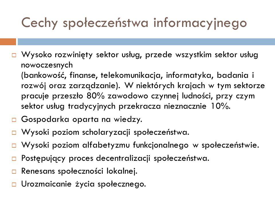 Cechy społeczeństwa informacyjnego