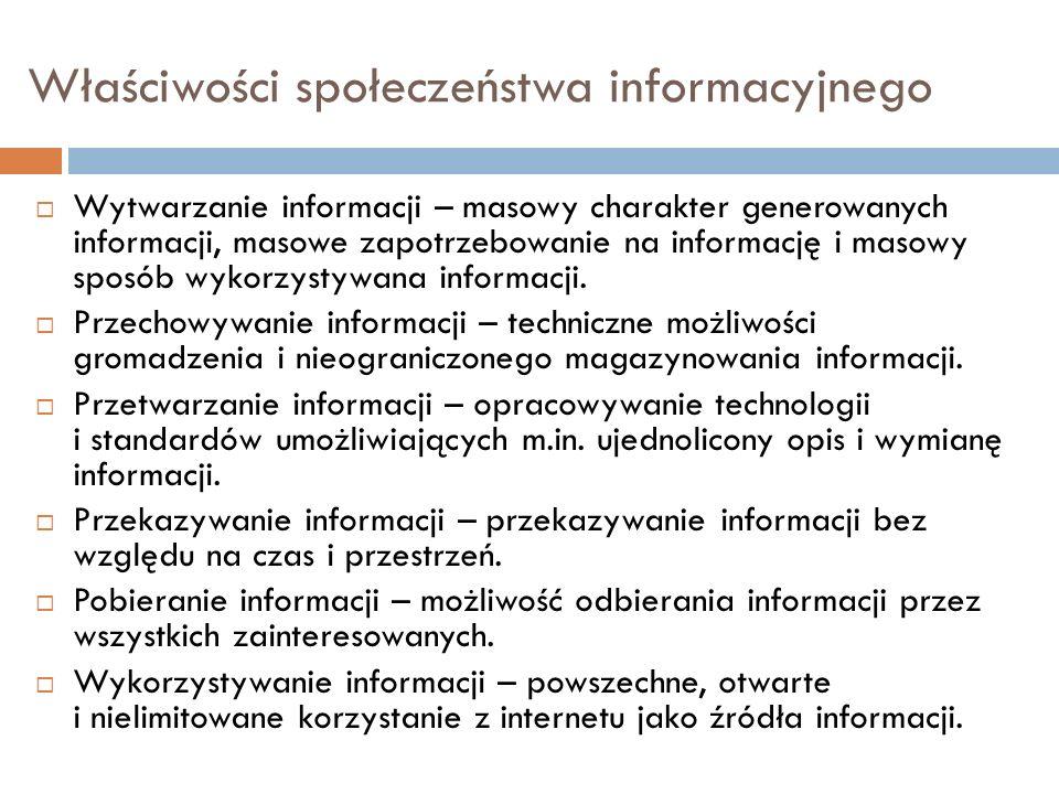 Właściwości społeczeństwa informacyjnego