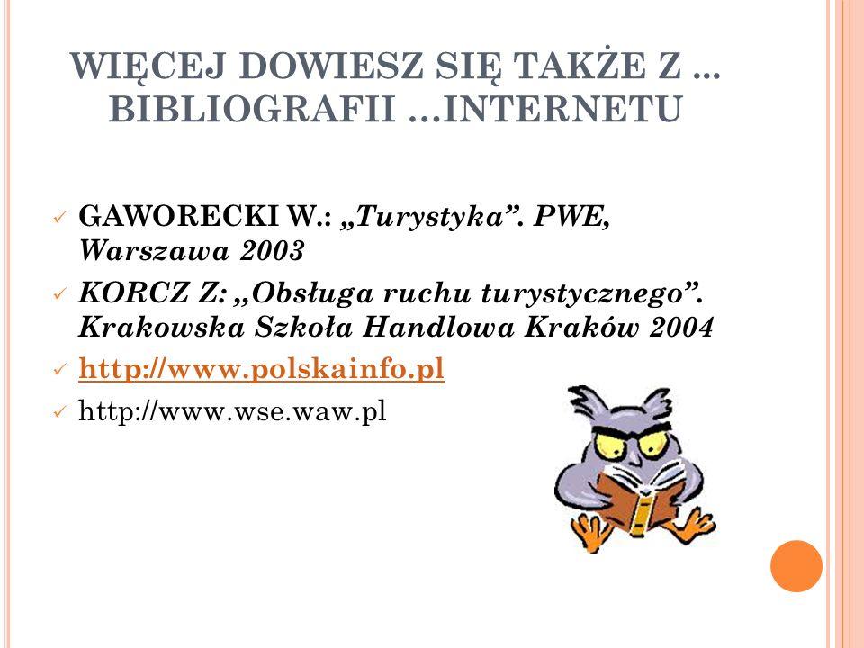 WIĘCEJ DOWIESZ SIĘ TAKŻE Z ... BIBLIOGRAFII …INTERNETU