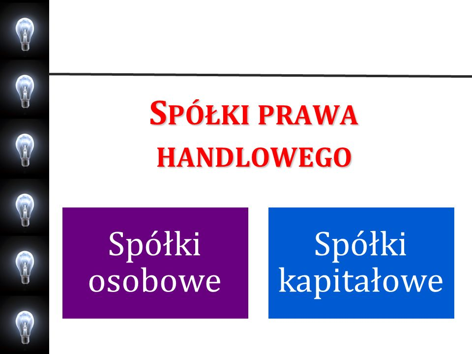 Spółki prawa handlowego