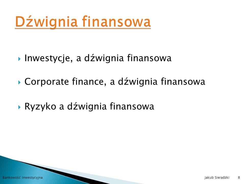 Dźwignia finansowa Inwestycje, a dźwignia finansowa