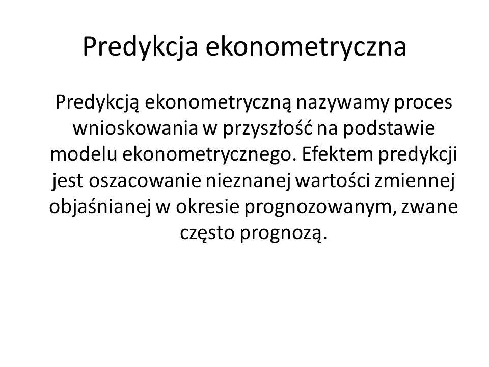 Predykcja ekonometryczna