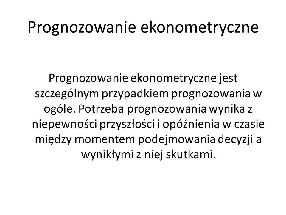 Prognozowanie ekonometryczne
