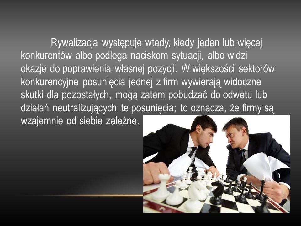 Rywalizacja występuje wtedy, kiedy jeden lub więcej konkurentów albo podlega naciskom sytuacji, albo widzi okazje do poprawienia własnej pozycji.
