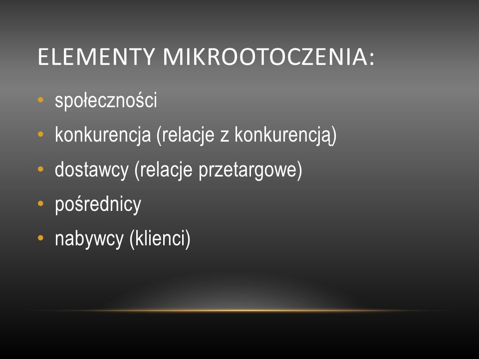 elementy mikrootoczenia: