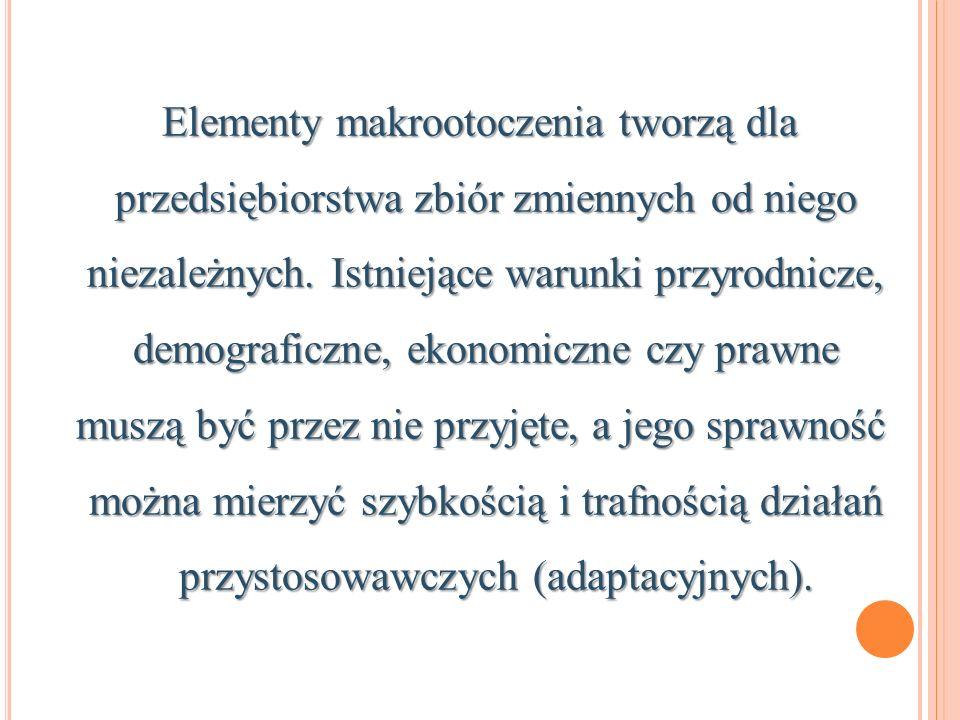 Elementy makrootoczenia tworzą dla