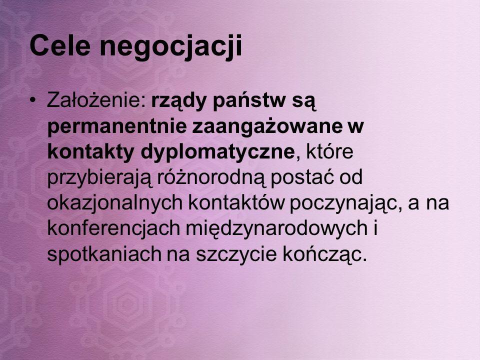 Cele negocjacji