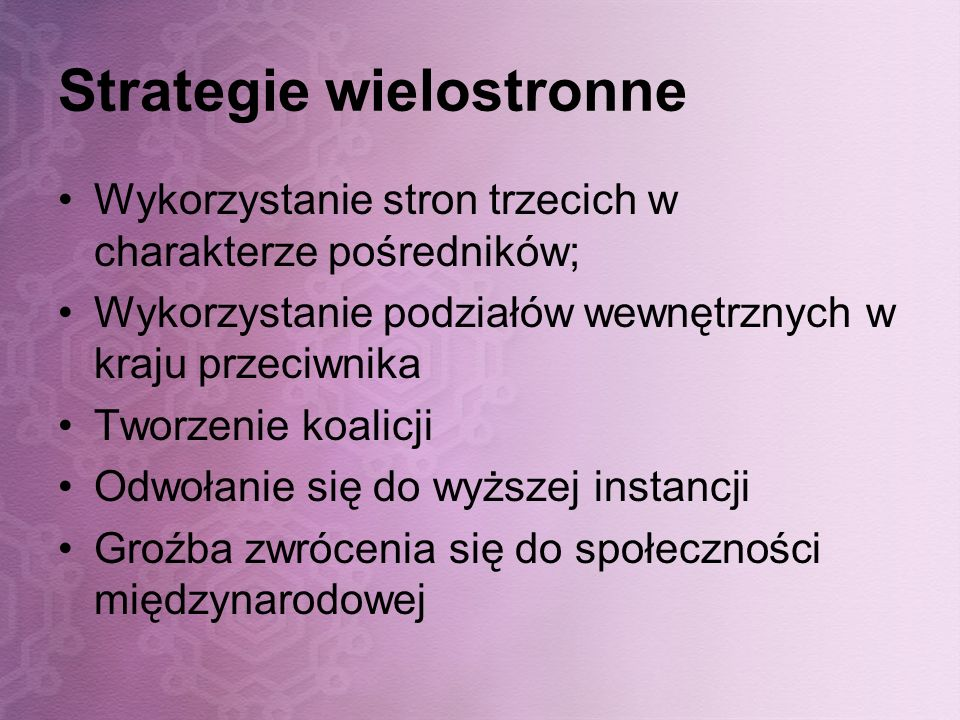Strategie wielostronne