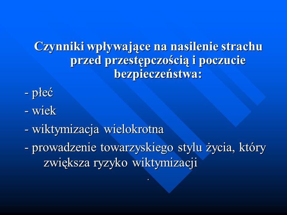 - wiktymizacja wielokrotna