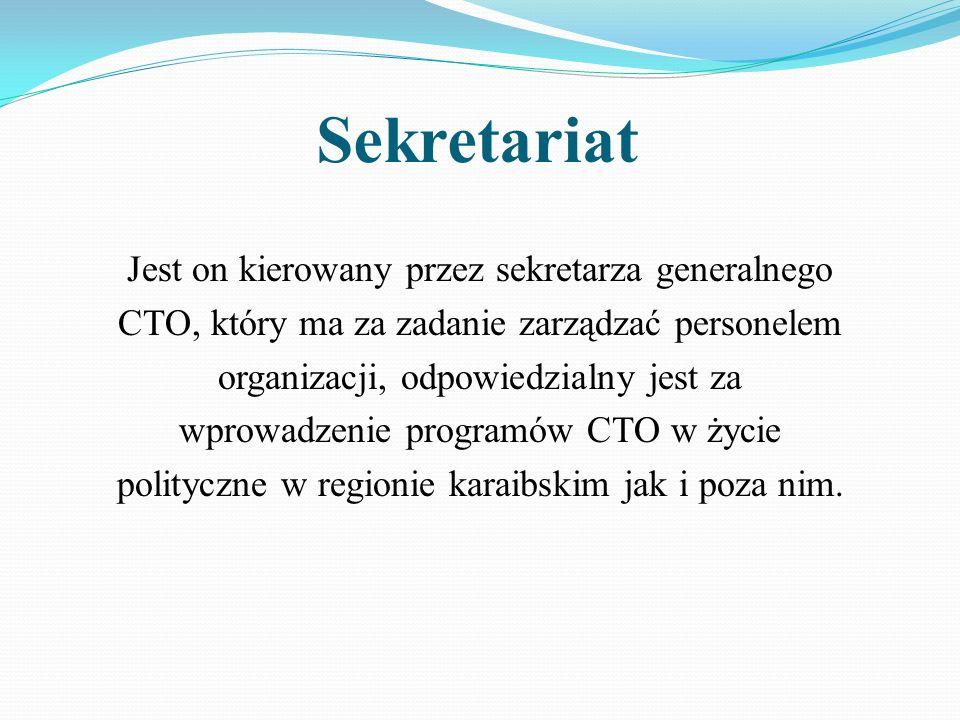Sekretariat Jest on kierowany przez sekretarza generalnego