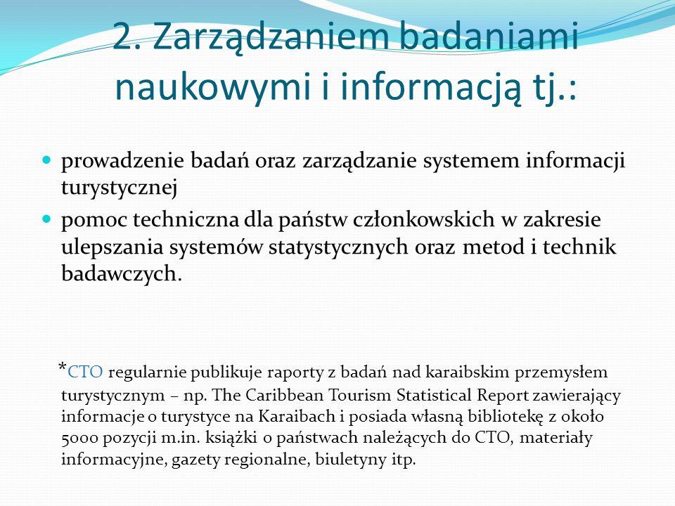 2. Zarządzaniem badaniami naukowymi i informacją tj.: