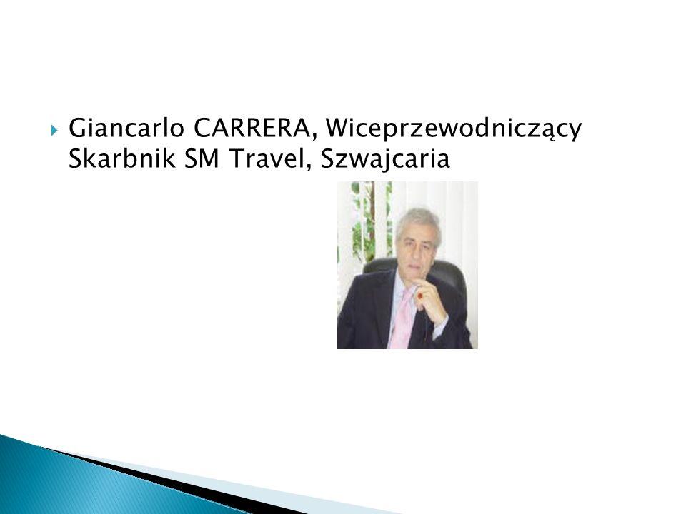 Giancarlo CARRERA, Wiceprzewodniczący Skarbnik SM Travel, Szwajcaria