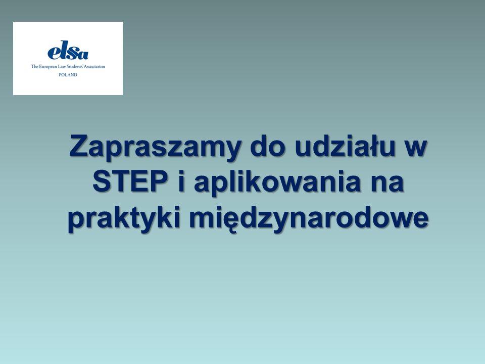 Zapraszamy do udziału w STEP i aplikowania na praktyki międzynarodowe