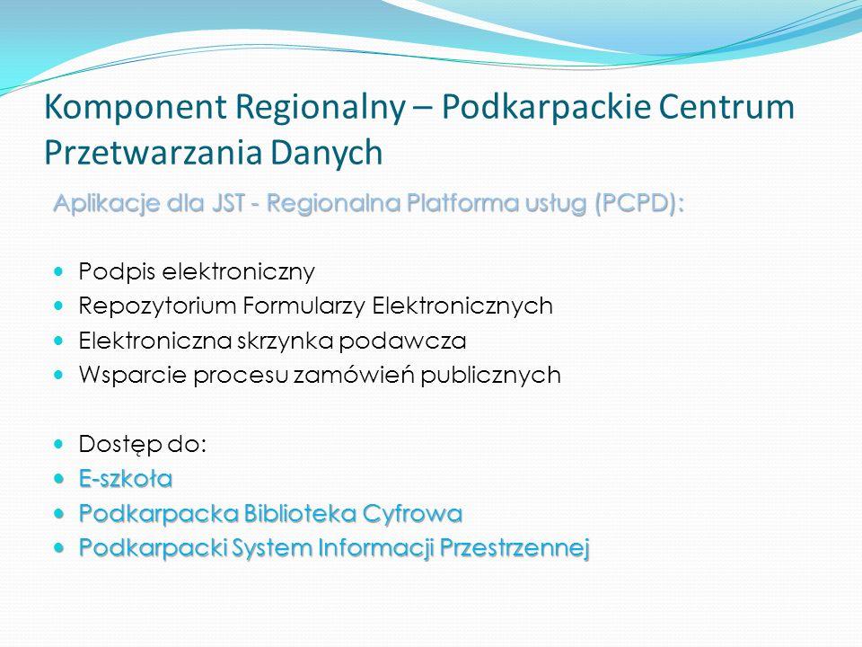 Komponent Regionalny – Podkarpackie Centrum Przetwarzania Danych
