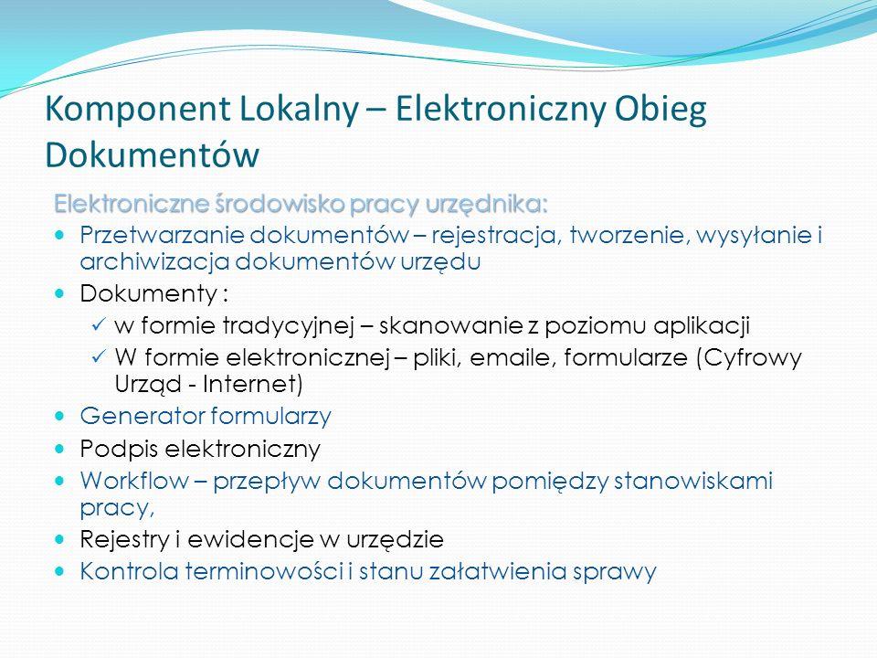 Komponent Lokalny – Elektroniczny Obieg Dokumentów