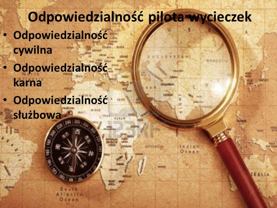 Odpowiedzialność pilota wycieczek