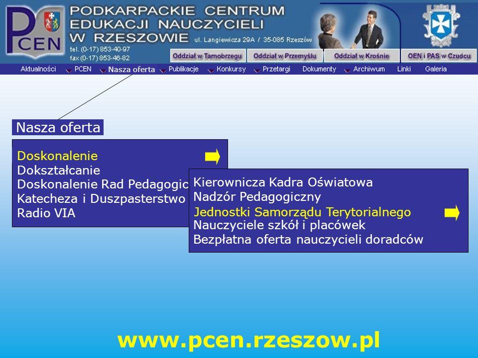 www.pcen.rzeszow.pl Nasza oferta