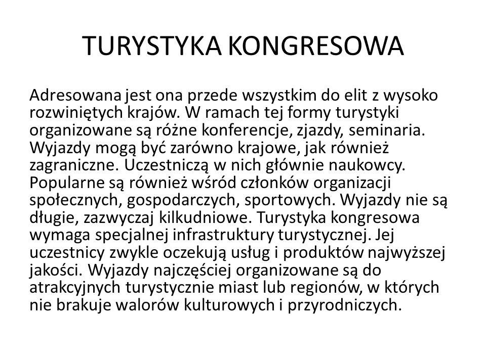 TURYSTYKA KONGRESOWA