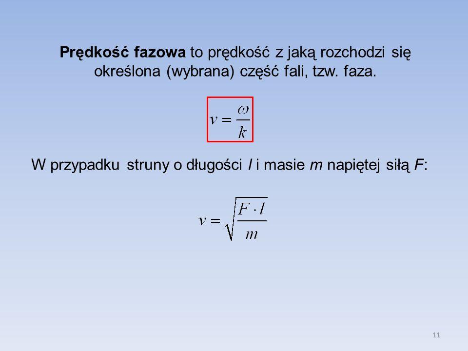 Prędkość fazowa to prędkość z jaką rozchodzi się określona (wybrana) część fali, tzw. faza.