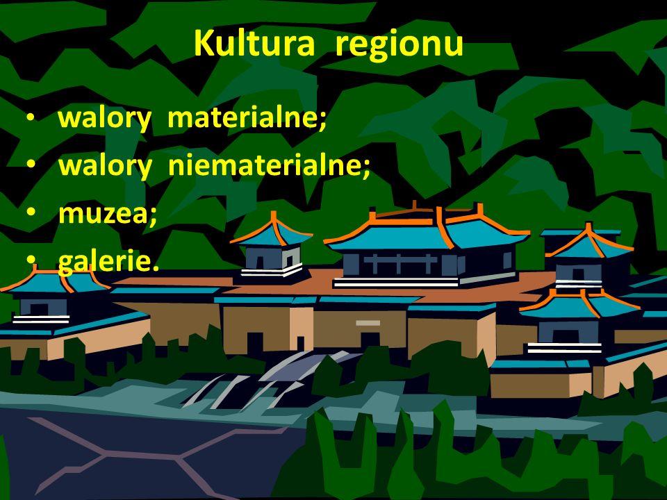 Kultura regionu walory niematerialne; muzea; galerie.