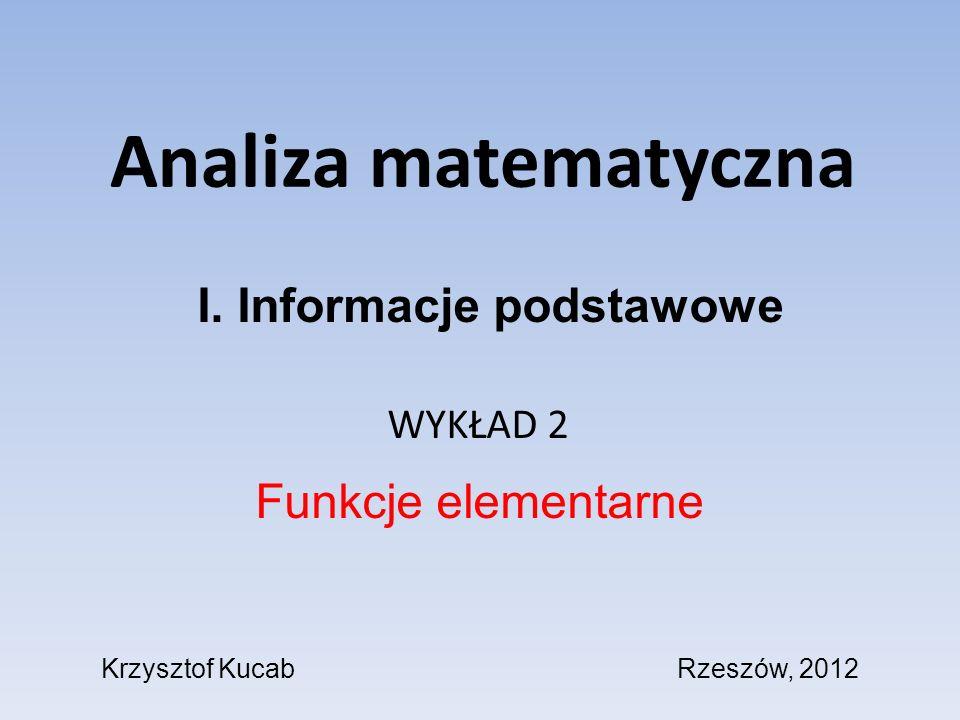 I. Informacje podstawowe