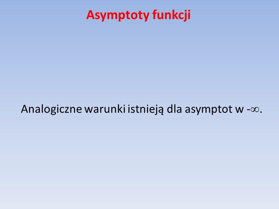 Analogiczne warunki istnieją dla asymptot w -.