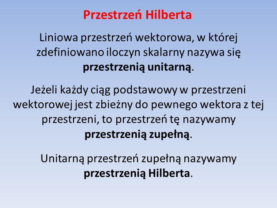 Przestrzeń Hilberta