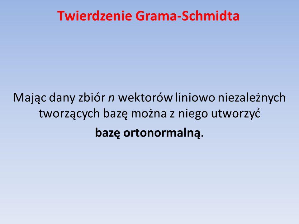Twierdzenie Grama-Schmidta
