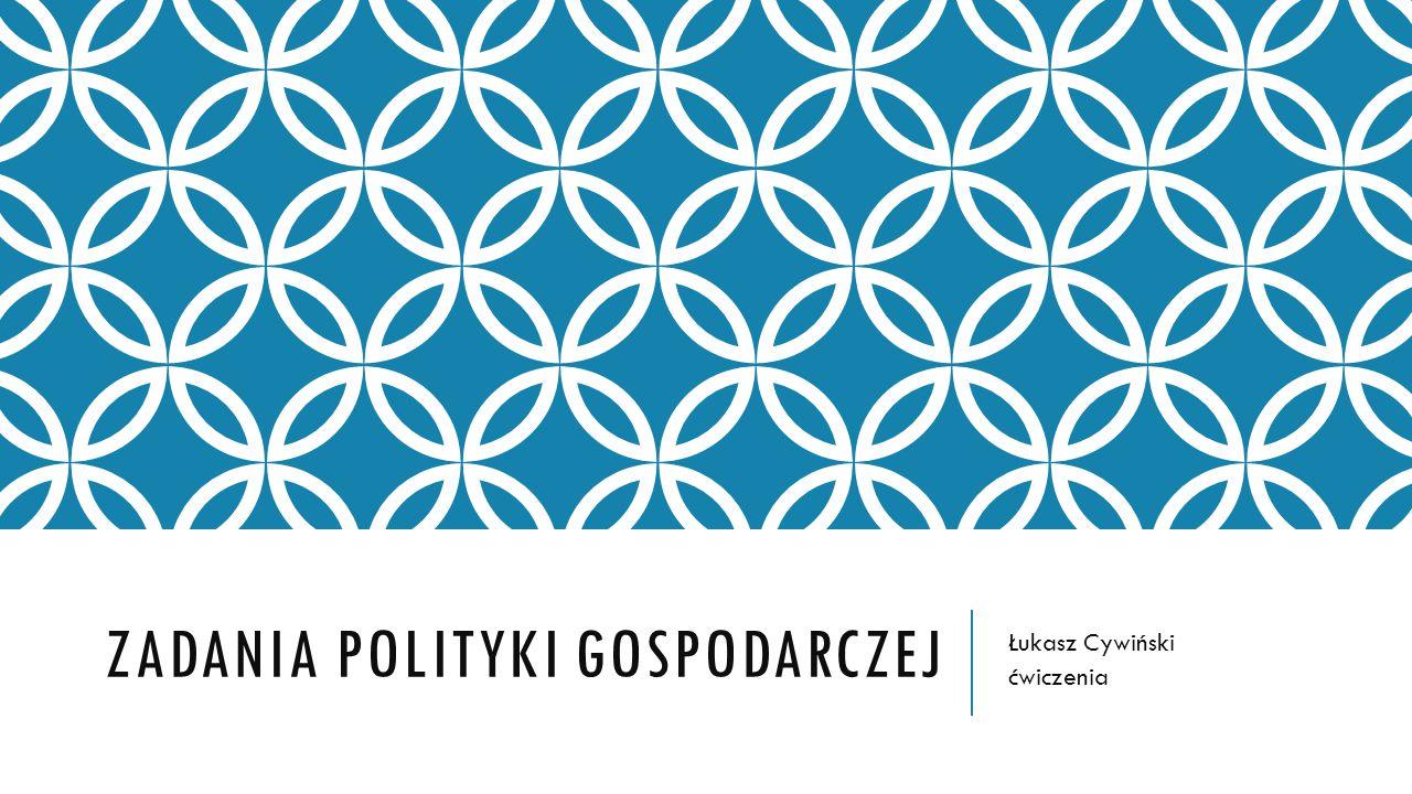 Zadania polityki gospodarczej