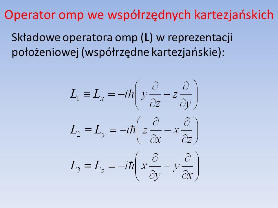 Operator omp we współrzędnych kartezjańskich