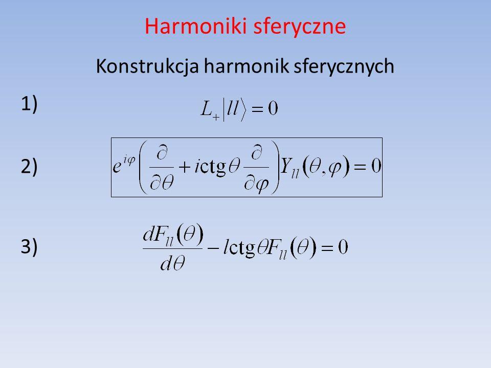 Konstrukcja harmonik sferycznych 1) 2) 3)