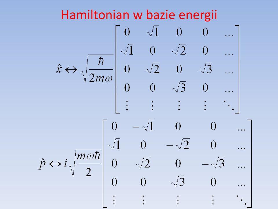 Hamiltonian w bazie energii