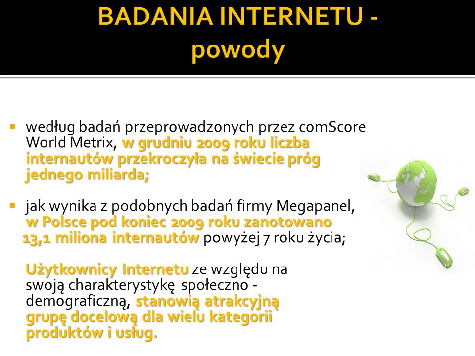BADANIA INTERNETU - powody