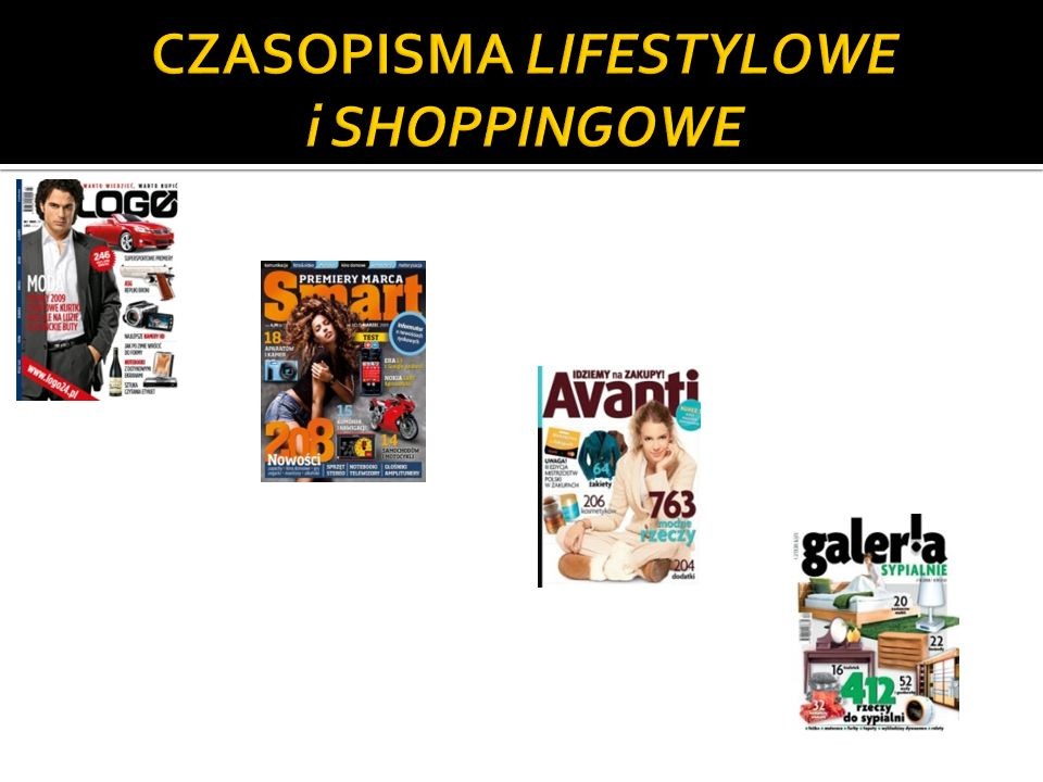 CZASOPISMA LIFESTYLOWE i SHOPPINGOWE