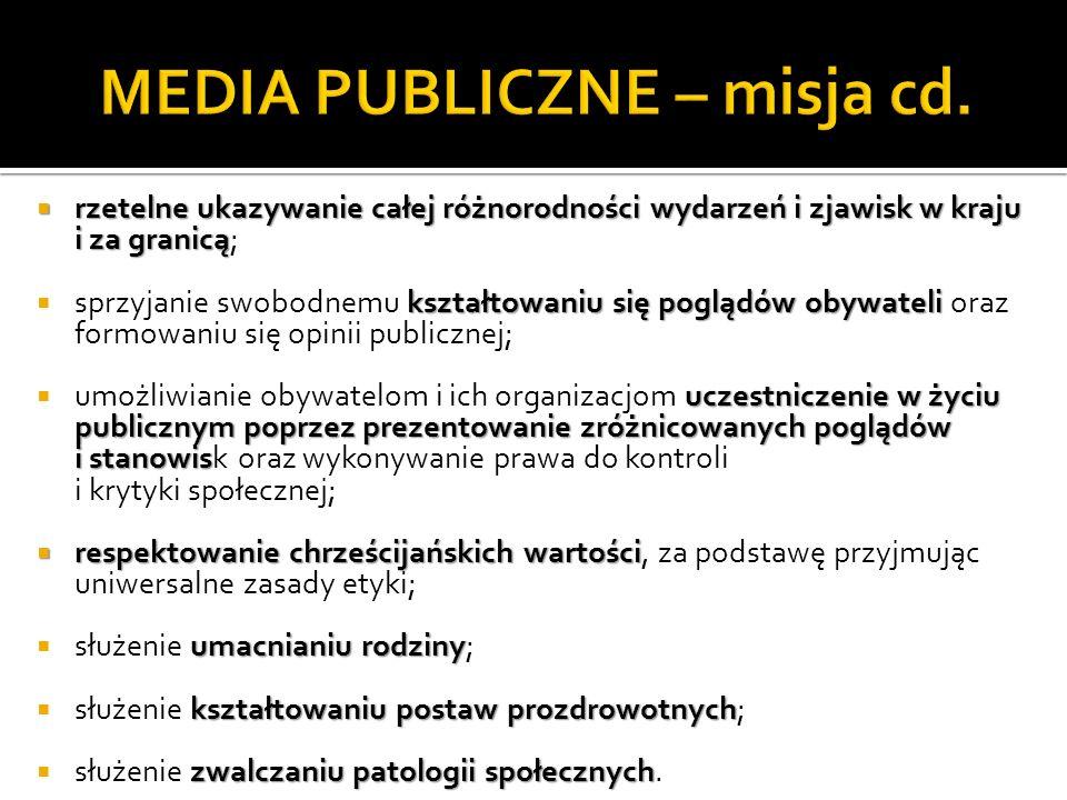 MEDIA PUBLICZNE – misja cd.