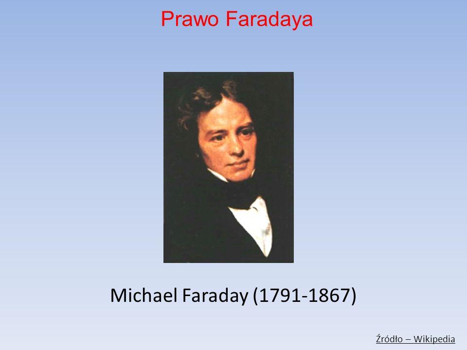 Prawo Faradaya Michael Faraday (1791-1867) Źródło – Wikipedia