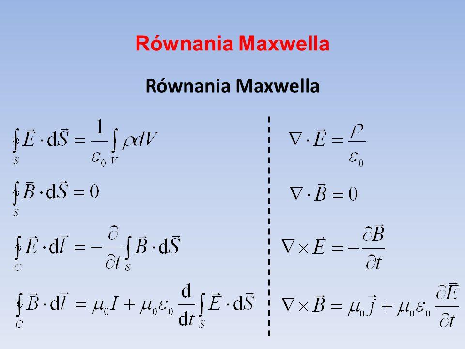 Równania Maxwella Równania Maxwella