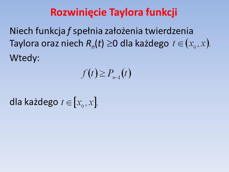 Rozwinięcie Taylora funkcji