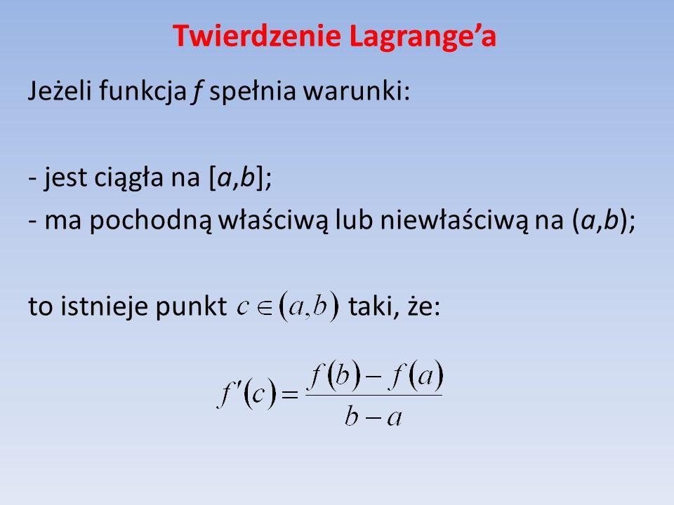 Twierdzenie Lagrange'a