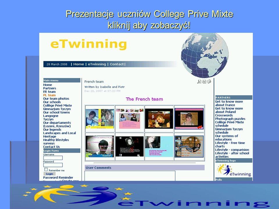 Prezentacje uczniów College Prive Mixte kliknij aby zobaczyć!