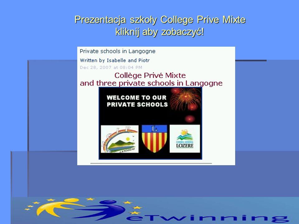 Prezentacja szkoły College Prive Mixte kliknij aby zobaczyć!