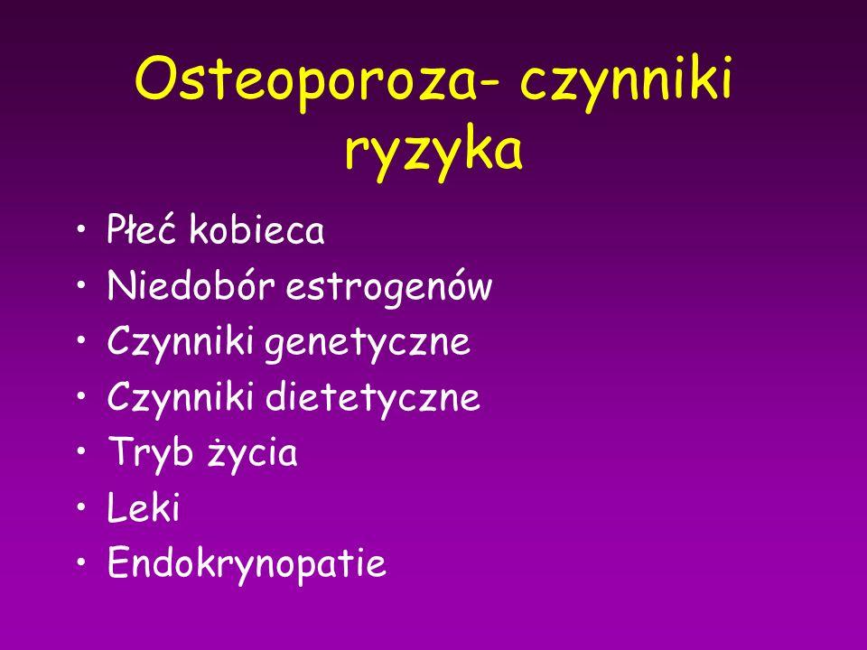 Osteoporoza- czynniki ryzyka