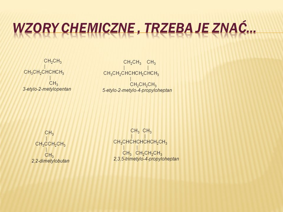 WZORY CHEMICZNE , TRZEBA JE ZNAĆ…