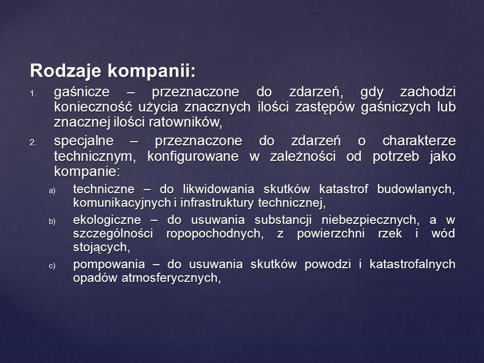 Rodzaje kompanii: