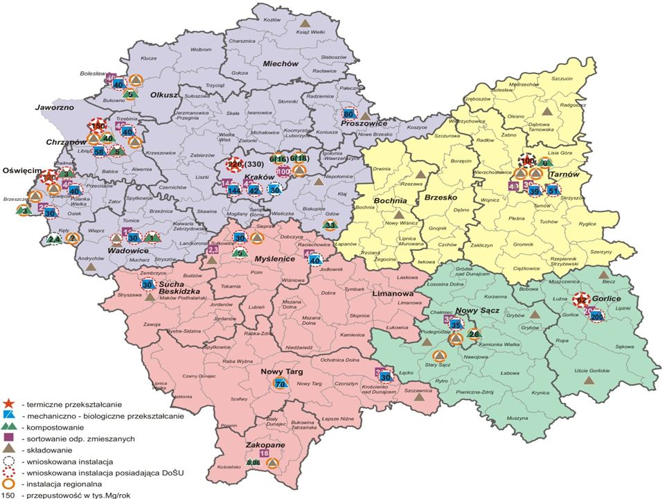 Projekt podziału województwa