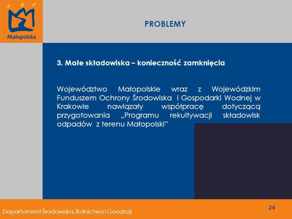 PROBLEMY 3. Małe składowiska – konieczność zamknięcia