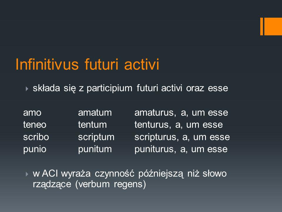 Infinitivus futuri activi