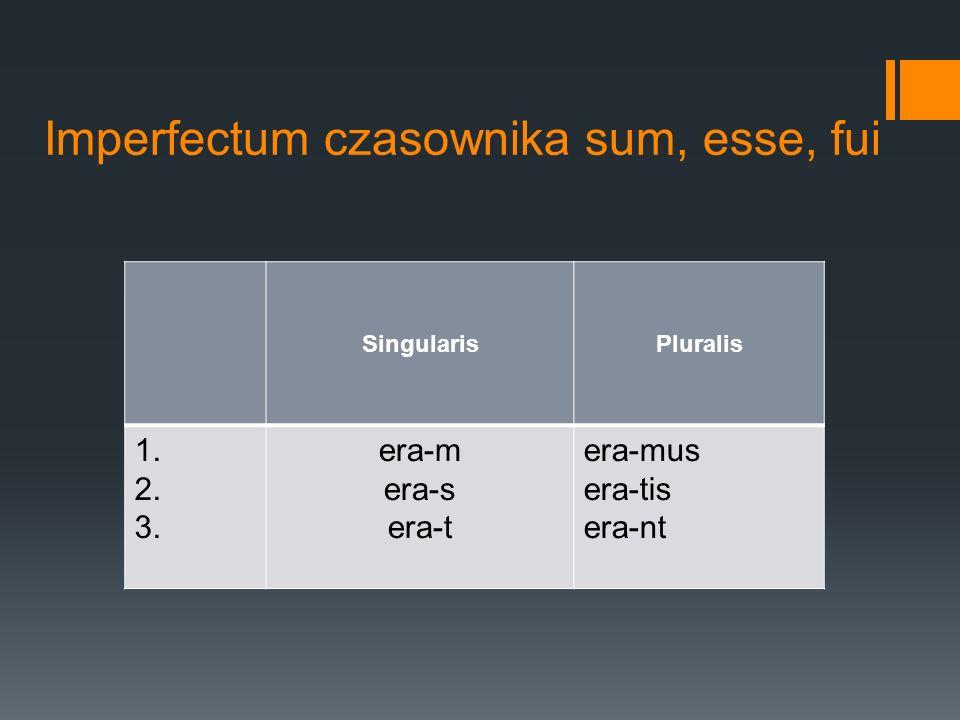 Imperfectum czasownika sum, esse, fui